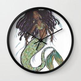 dreadlock mermaid Wall Clock
