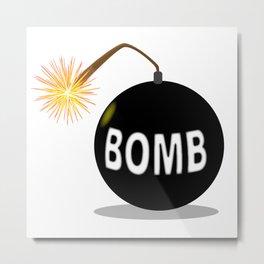 Cartoon Bomb Metal Print