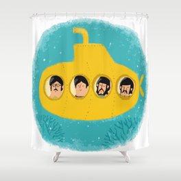 Yellow submarine Shower Curtain
