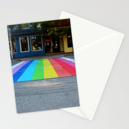 Rainbow Crosswalk Stationery Cards