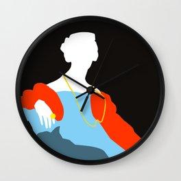 Pop Portrait · Ingres 6 Wall Clock