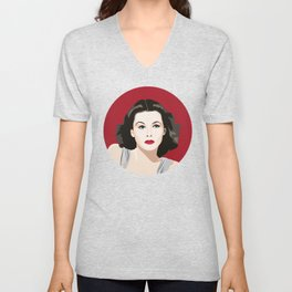 Hedy Lamarr portrait Unisex V-Neck