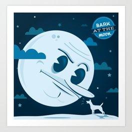 Bark at the moon Art Print