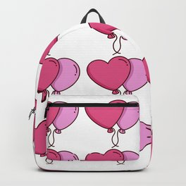 Valentines Day Balloons Backpack