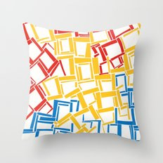 rectangles in primary colours Throw Pillow