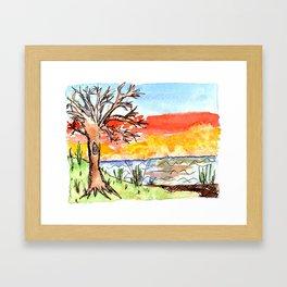 sunset art #3 Framed Art Print
