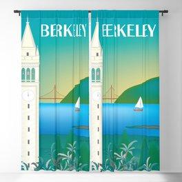Berkeley, California - Skyline Illustration by Loose Petals Blackout Curtain