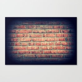 Red brick wall texture background with vignetting corners Canvas Print