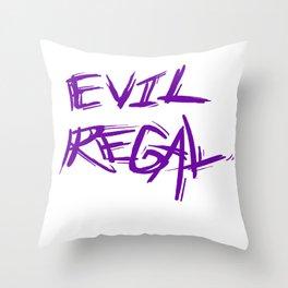 Evil Regal  Throw Pillow