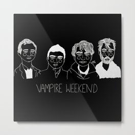 Vampire Weekend (Inverted) Metal Print