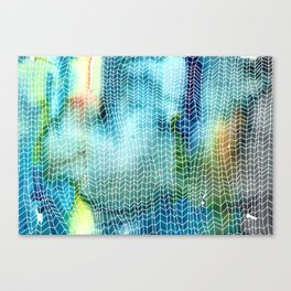 Woven Watercolor Canvas Print
