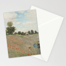 Claude Monet - Les Coquelicots.jpg Stationery Cards