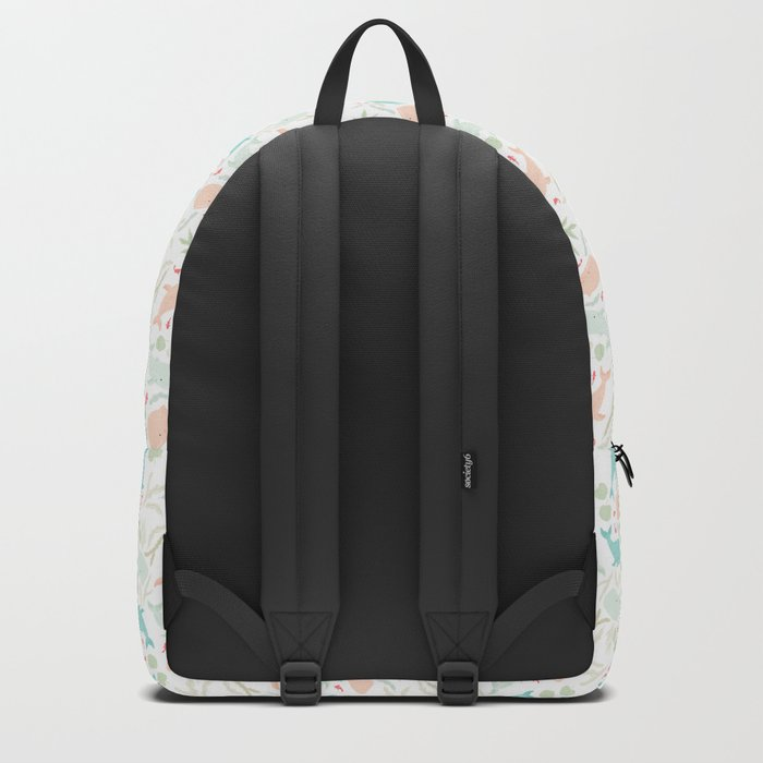 Pastel Whale Pattern Backpack