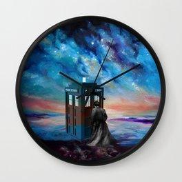 TARDIS DOCTOR WHO PAINT Wall Clock