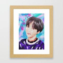 Winter Min Yoongi (Suga) Framed Art Print