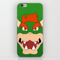 mario bros iPhone & iPod Skins featuring Bowser Super Mario Bros. by JAGraphic