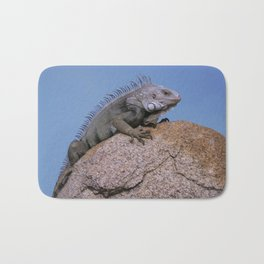 Iguana from Aruba Bath Mat