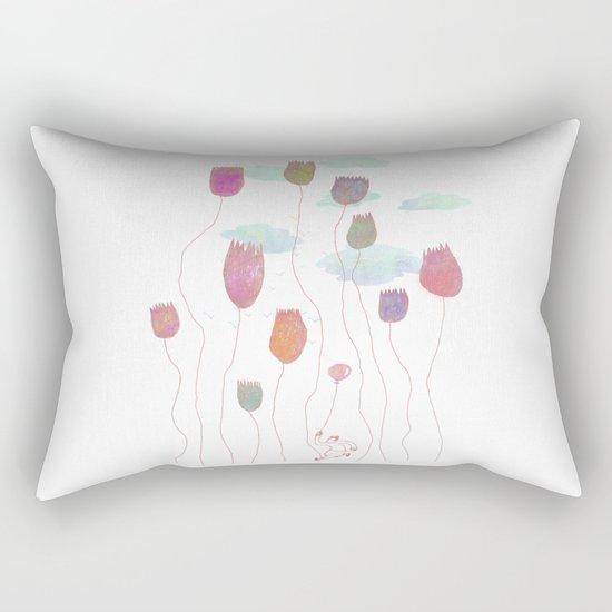 Run in the wild Rectangular Pillow