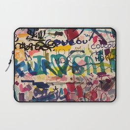 Urban Graffiti Paper Street Art Laptop Sleeve