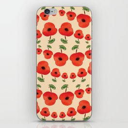 Red poppies dance iPhone Skin
