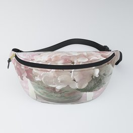 Pink Shabby Chic Hydrangeas Floral Prints and Home Decor Fanny Pack