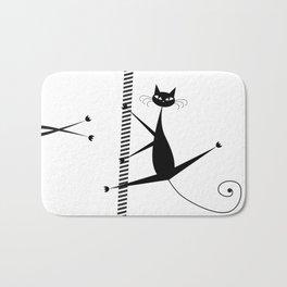 Pole dancing cats Bath Mat