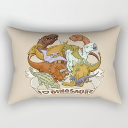 I Heart Dinosaurs Rectangular Pillow