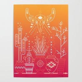 Santa Fe Garden – Orange Sunset Poster
