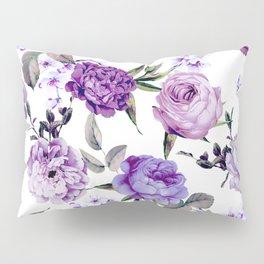 Elegant Girly Violet Lilac Purple Flowers Pillow Sham