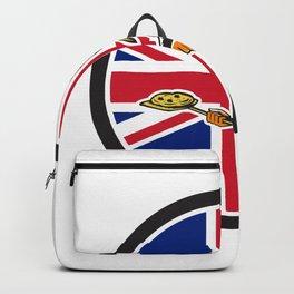 British Pizza Baker Union Jack Flag Icon Backpack
