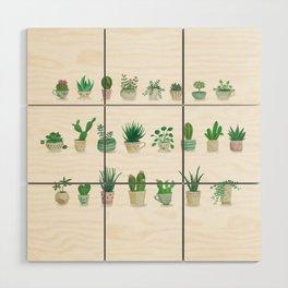 Tiny garden Wood Wall Art