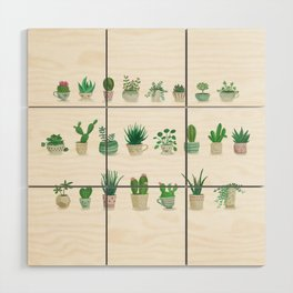 Tiny garden Wood Wall Art