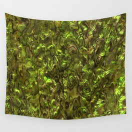 Abalone Shell | Paua Shell | Yellow Tint Wall Tapestry