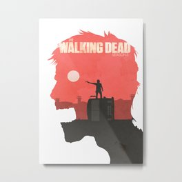 The Walking Dead - Season 3 Poster Metal Print