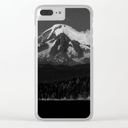 mount baker from the san juan islands Clear iPhone Case