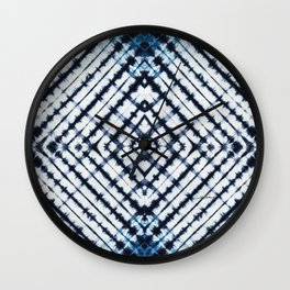 Diamonds Indigo Wall Clock