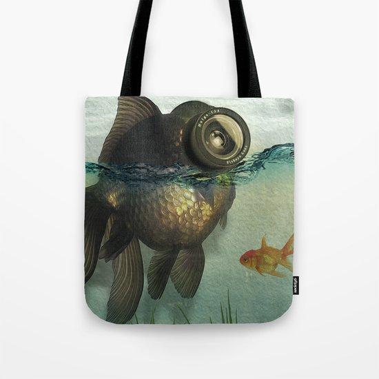 Fish eye lens Tote Bag