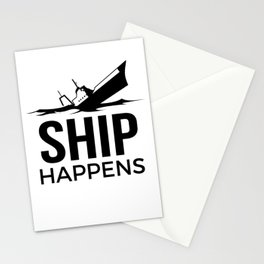 Ship Happens Stationery Cards