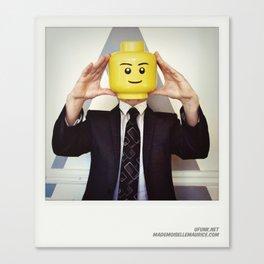 Minifig me ! – Everyone has a LEGO piece inside - 11 Canvas Print