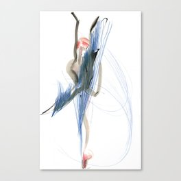 Expressive Dance Drawing Canvas Print