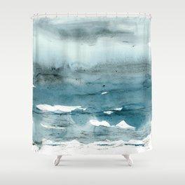 dissolving blues Shower Curtain