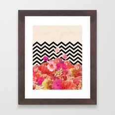 Chevron Flora II Framed Art Print