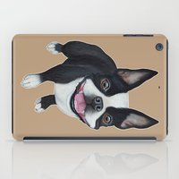 boston terrier iPad Cases featuring Boston Terrier by PaperTigress