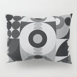 Geometry Games V / Black Palette Pillow Sham