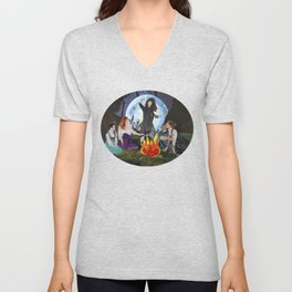 Campfire Witches Unisex V-Neck