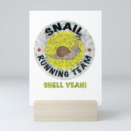 Snail Running Team I Funny Gift Idea slow Runner Mini Art Print