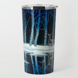"""The Forest of Dean"" (Bob Ross-style Patronus Painting) Travel Mug"