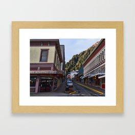 Seward Street in Juneau Framed Art Print