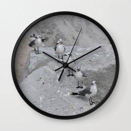 Laughing Gulls Lineup Wall Clock