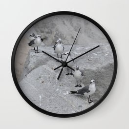 Laughing Gulls Lineup Wall Clock